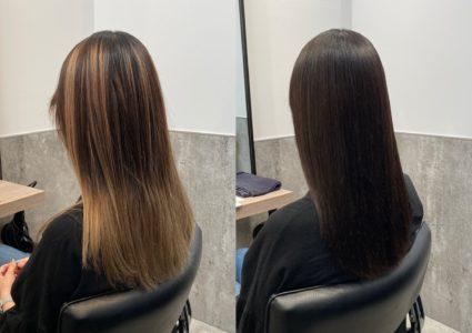 【実例】バレイヤージュで失敗された髪を綺麗に戻す方法【ブリーチリペア】